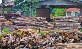 Série 7 de scierie de bois de construction photographie stock libre de droits