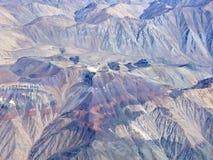 Série aérienne 1 d'horizontal de désert d'Atacama Images libres de droits