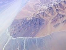 Série aérienne 2 d'horizontal de désert d'Atacama Image libre de droits