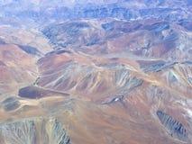 Série aérienne 3 d'horizontal de désert d'Atacama Image libre de droits