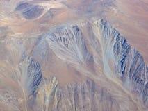 Série aérienne 5 d'horizontal de désert d'Atacama Image libre de droits