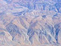 Série aérienne 6 d'horizontal de désert d'Atacama Photos libres de droits