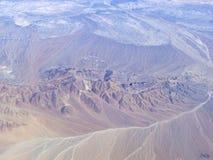 Série aérienne 7 d'horizontal de désert d'Atacama Photographie stock