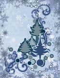 Série abstrata do inverno ilustração royalty free