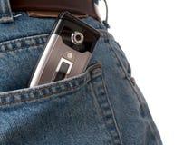 Série arrière de poche - cel Photo libre de droits