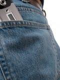 série arrière de poche de cel Image stock