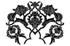 Série artistique noire de motif de tabouret illustration libre de droits