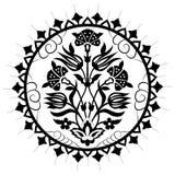 Série artistique noire soixante-dix de modèle de tabouret illustration de vecteur