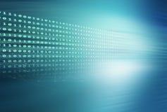Série azul do conceito do fundo do tema dos códigos binários de Digitas Imagens de Stock Royalty Free