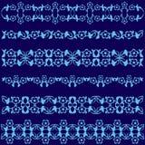 Série azul do projeto dos motivos do otomano de cinquenta e sete Fotografia de Stock Royalty Free