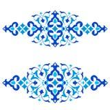 Série azul do projeto dos motivos do otomano de cinquenta e três Foto de Stock