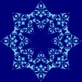 Série azul do projeto dos motivos do otomano de meio a meio Foto de Stock Royalty Free
