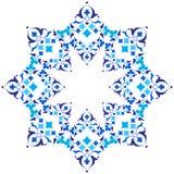 Série azul do projeto dos motivos do otomano de meio a meio versões Imagens de Stock Royalty Free