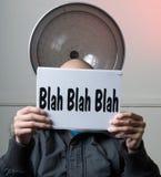 Série Blah- de signe Images stock
