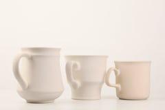 Série branca do copo Foto de Stock