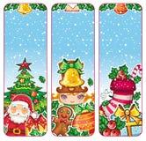Série colorée de drapeaux de Noël Images libres de droits