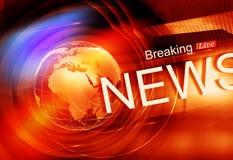 Série colorée graphique de Live Breaking News Background Concept Photographie stock