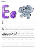 Série d'écriture d'alphabet illustration de vecteur