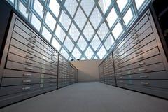 Série d'étagères de dégagement de bibliothèque images libres de droits