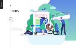 Série d'affaires - actualités ou articles, calibre de Web illustration libre de droits