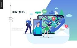 Série d'affaires - calibre de Web de contacts illustration de vecteur