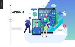 Série d'affaires - calibre de Web de contacts illustration stock