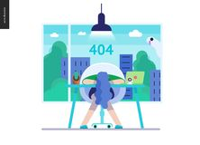 Série d'affaires - calibre de Web de l'erreur 404 illustration libre de droits