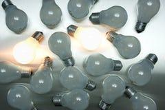 Série d'ampoules Photos stock