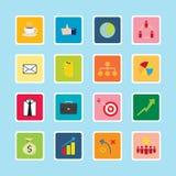 Série d'autocollant d'icône d'affaires Photos libres de droits