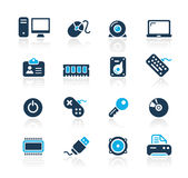 Série d'azur de // d'ordinateur et de dispositifs Photographie stock libre de droits