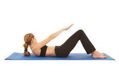 Série d'exercice de Pilates Photographie stock libre de droits