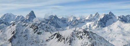 série d'horizontaux d'alpes photographie stock libre de droits