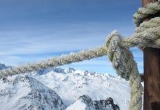 série d'horizontaux d'alpes image libre de droits