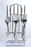 Série d'images des articles de cuisine. Fiche et cuillère images libres de droits