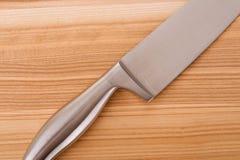 Série d'images des articles de cuisine. Positionnement de couteau Photos stock