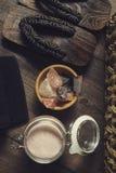 Série d'Onsen : onsen l'équipement Photo libre de droits