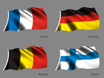 Série da bandeira do mundo Fotos de Stock Royalty Free