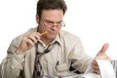 Série da contabilidade - concentração Fotografia de Stock