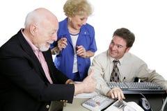 Série da contabilidade - Sénior Thumbsup Imagem de Stock