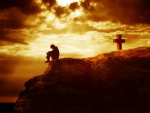 Série da cruz de Calvary Imagens de Stock