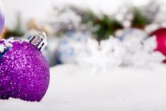 Série da decoração do ornamento do Natal Imagem de Stock Royalty Free