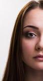 Série da emoção de menina ucraniana - séria fotografia de stock royalty free