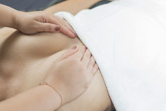 Série da massagem Foto de Stock