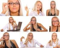 Série da mulher de negócios Fotografia de Stock