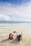 Série da praia - diversidade Fotos de Stock