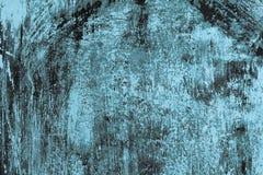 Série da textura - Rusty Scratched Painted Metal azul Foto de Stock