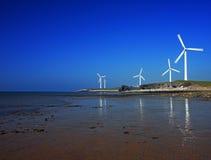 Série da turbina de vento Fotos de Stock