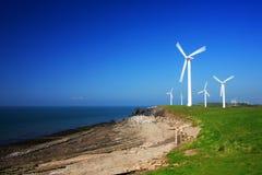 Série da turbina de vento imagem de stock