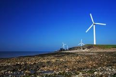 Série da turbina de vento Fotos de Stock Royalty Free