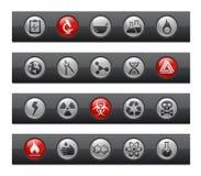 Série de bar de bouton de // de la Science Photo libre de droits